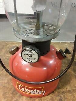 Vintage Coleman Lantern Model 200A Single Mantle Black Band 2-52 Camping Lamp