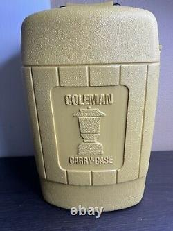 Vintage Coleman Lantern Model 275 Double Mantle Dated 11/76 With Funnel And Case