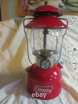 Vintage Coleman Lantern Red 200A, single mantel, 8/79 withbox & instrucs/part list