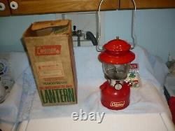 Vintage Coleman Model 200A195 Red Lantern & Box May 1972 Hesss allentown pa