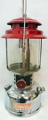 Vintage Coleman Model 231 Double Mantle RED Lantern 31 cm