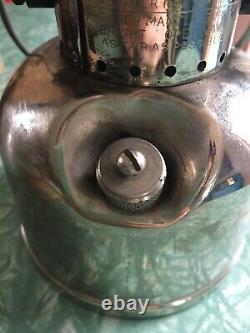 Vintage Coleman Model 242C Single Mantle Lantern Nickel Base May 1949 Rare Works