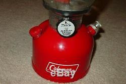 Vintage Coleman Red 200a Single Mantle Lantern 9 76 Used Once Nice