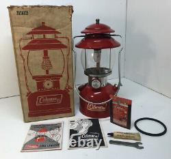 Vintage Coleman Red Lantern 200A WithORIGINAL BOX & Paperwork 1973 Extremely Nice