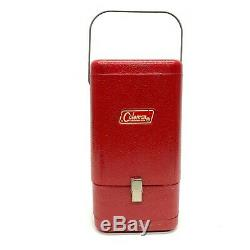 Vintage Coleman Red Metal Lantern Case 200A Clamshell Opening 1960s 1970s