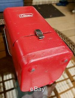Vintage Coleman Red Metal Lantern Case 200 200A 202