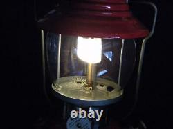 Vintage Coleman Single Mantle Red Lantern1960Lamp200ANo Chip Top7 60Camp