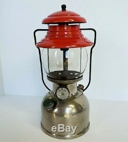 Vintage Coleman USA Model 200 Single-Mantle Nickel Lantern Dated 11/50 Rare