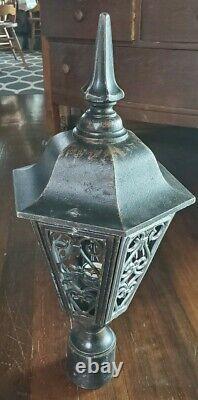 Vintage Decorative Gothic Tudor Post Light Entry Sconce Outdoor Post Lantern