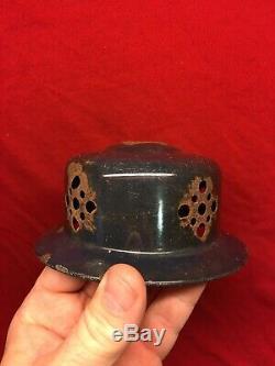 Vintage Early Blue Black Coleman Lantern Mod 243 Original Pyrex Globe Complete