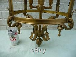 Vintage Huge 3Ft Open Brass 4 Light Sconce Lantern Country/Manor House Project
