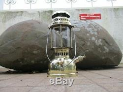 Vintage In Brass Lamp Lantern Petromax Hipolito 150 Pressure Kerosene