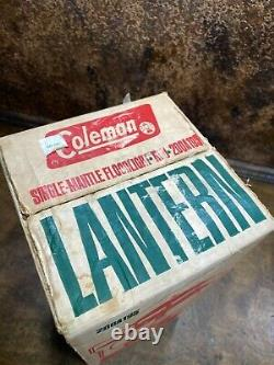 Vintage NOS 1960s Coleman 200A Lantern 200A195 Red NEW IN SEALED BOX UNFIRED