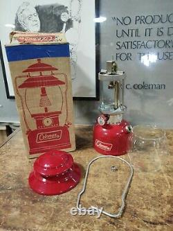 Vintage NOS Coleman Lantern 200A195 Red Withbox Single Mantle 1970 Unfired 5/70