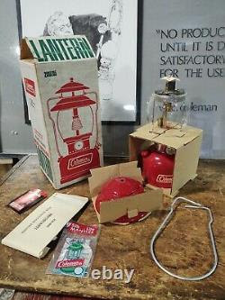 Vintage NOS Coleman Lantern 200A195 Red Withbox Single Mantle 1972 Unfired 5/72