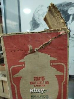 Vintage NOS Coleman Lantern 200A195 Red with BOX Single Mantle 1971 Unfired 11/71
