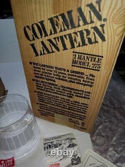 Vintage New in Box Unfired Unused Coleman Model 275 Lantern Super Rare USA 3/81