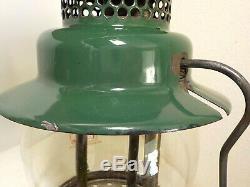 Vintage Nickel/chrome & Green Coleman Lantern Single Mantle 242c 6 49
