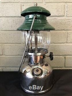 Vintage October 1961 Coleman 202 Professional Single Mantle Gas Camping Lantern