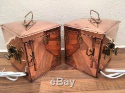 Vintage Pair Of Ships Lights. Port & Starboard Lanterns. Boat Yacht Lamps Marine
