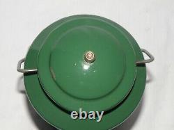Vintage Rare Green Coleman 200a Single Mantle Lantern Red Letter Globe Date 2-81