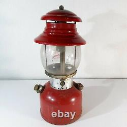 Vintage Red 1963 Coleman 200A Single Mantel Gas Lantern Dated 1/63 Camping