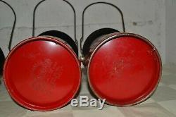 Vintage Red Coleman Lantern Lot 200A 1958'62'63'64