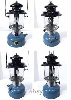 Vintage SEARS 1/66 Blue Lantern 476.74060 ORIG GLOBE w METAL CASE Coleman WORKS