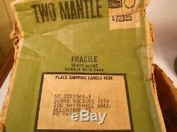 Vintage SEARS COLEMAN LANTERN Avocado febuary 1974 with box