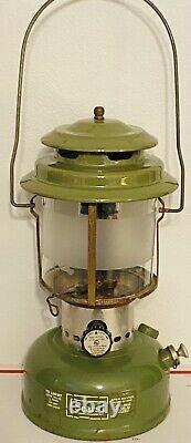 Vintage Sears Avocado Green Lantern 72242 Original Pyrex Globe 12/72 By Coleman