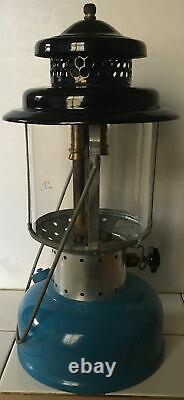 Vintage Sears Coleman Blue Double Mantle Lantern 6-1965