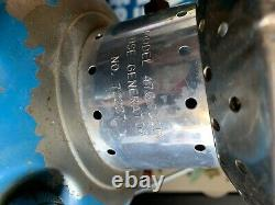 Vintage Sears Model 476.72213 Blue/Blue Dual Mantel Lantern 06/67 Big Hat