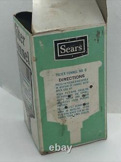 Vintage Sears No. 0 Lantern Filter Funnel New In Box NIB Coleman Stove