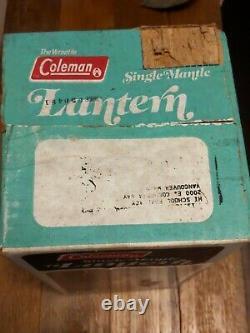 Vintage UNOPENED NOS Coleman Lantern 200A195 Red Sealed Box Single Mantle