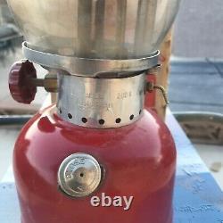 Vintage coleman lantern 200a red 1971