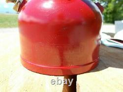 Vtg Coleman 200a Burgundy Lantern Dated 10-61 Usfs Forest Service Original Box