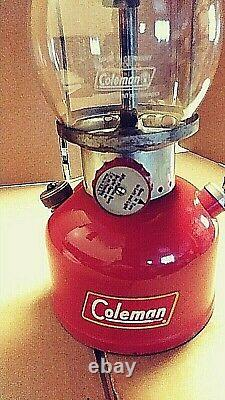 Vtg. Coleman 3/1956 200A Single Mantle Lantern (Nice) Has Replacement Globe