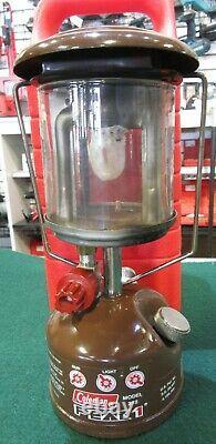 Vtg Coleman Peak 1 Model 222 Single Mantel Lantern & Case 1/82 Made In Canada