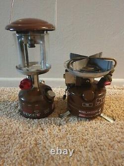 Vtg Coleman Peak 1 Model 400 Single Burner Backpacking Stove/peak 222 Lantern
