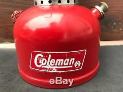 Vtg Coleman Rare Red 200 Error Collar Badge Model 200 10 66 October 1966 Globe