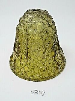 Vtg Porch Light Lantern Arts & Crafts Gothic Fairytale Medieval Glass Insert
